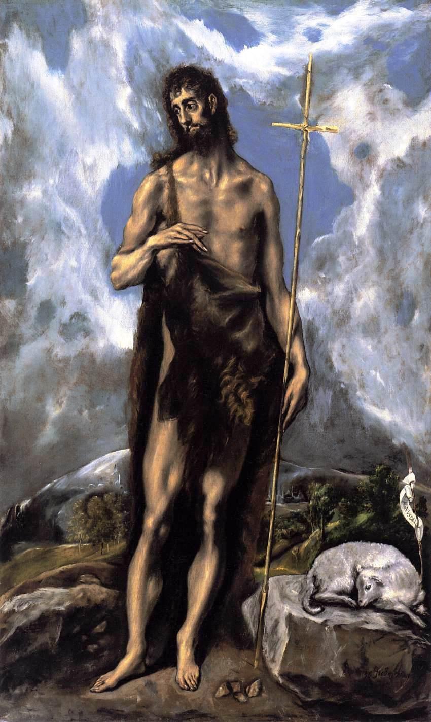 Domenico Theotokopoulos (El Greco). Saint John The Baptist