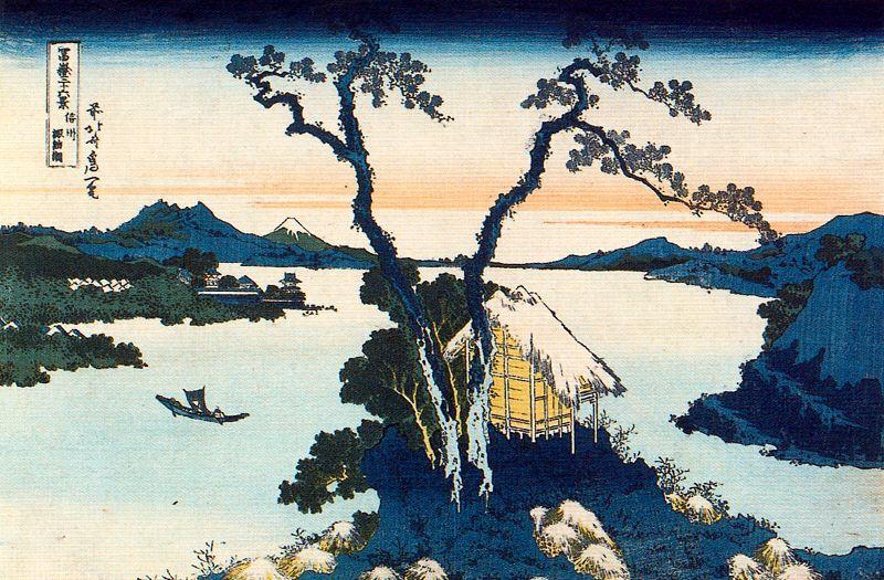 Кацусика Хокусай. Озеро Сува в провинции Синано
