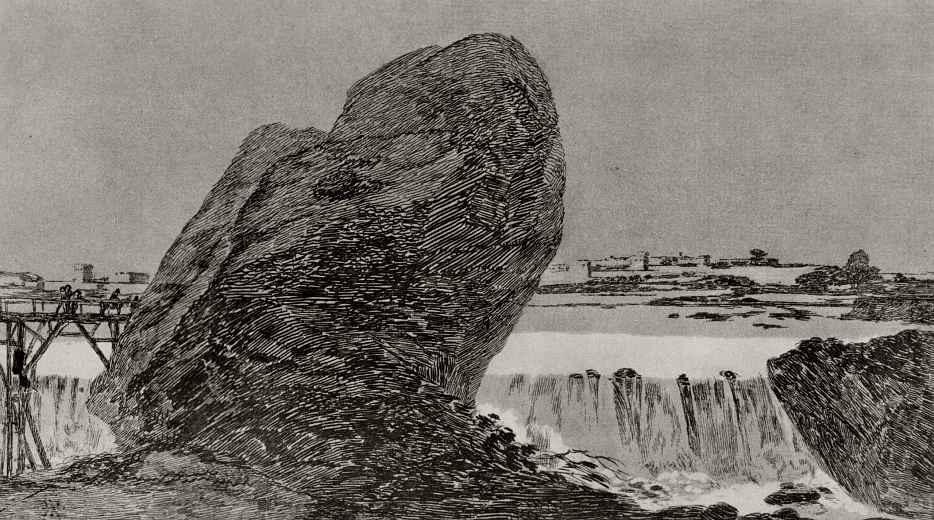 Франсиско Гойя. Пейзаж с водопадом