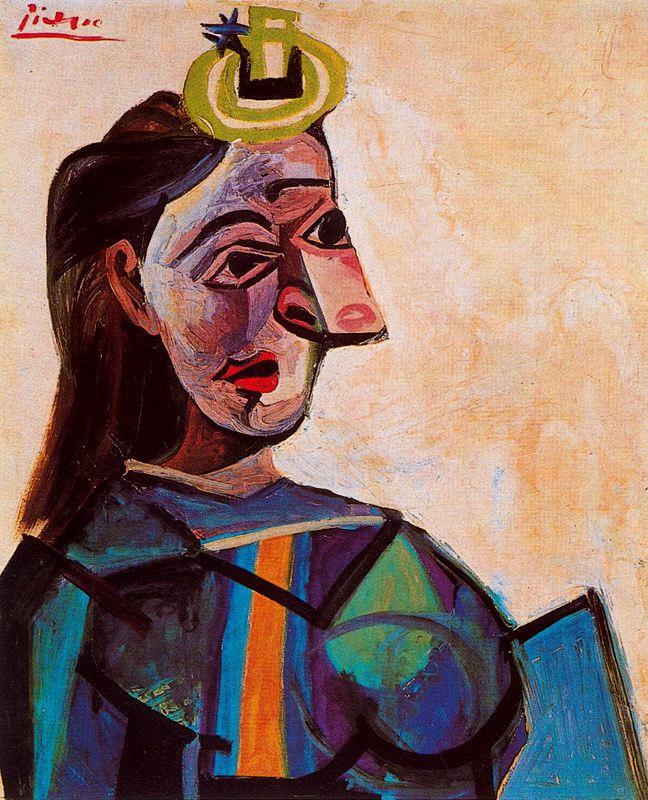 Пабло Пикассо. Дама в синем