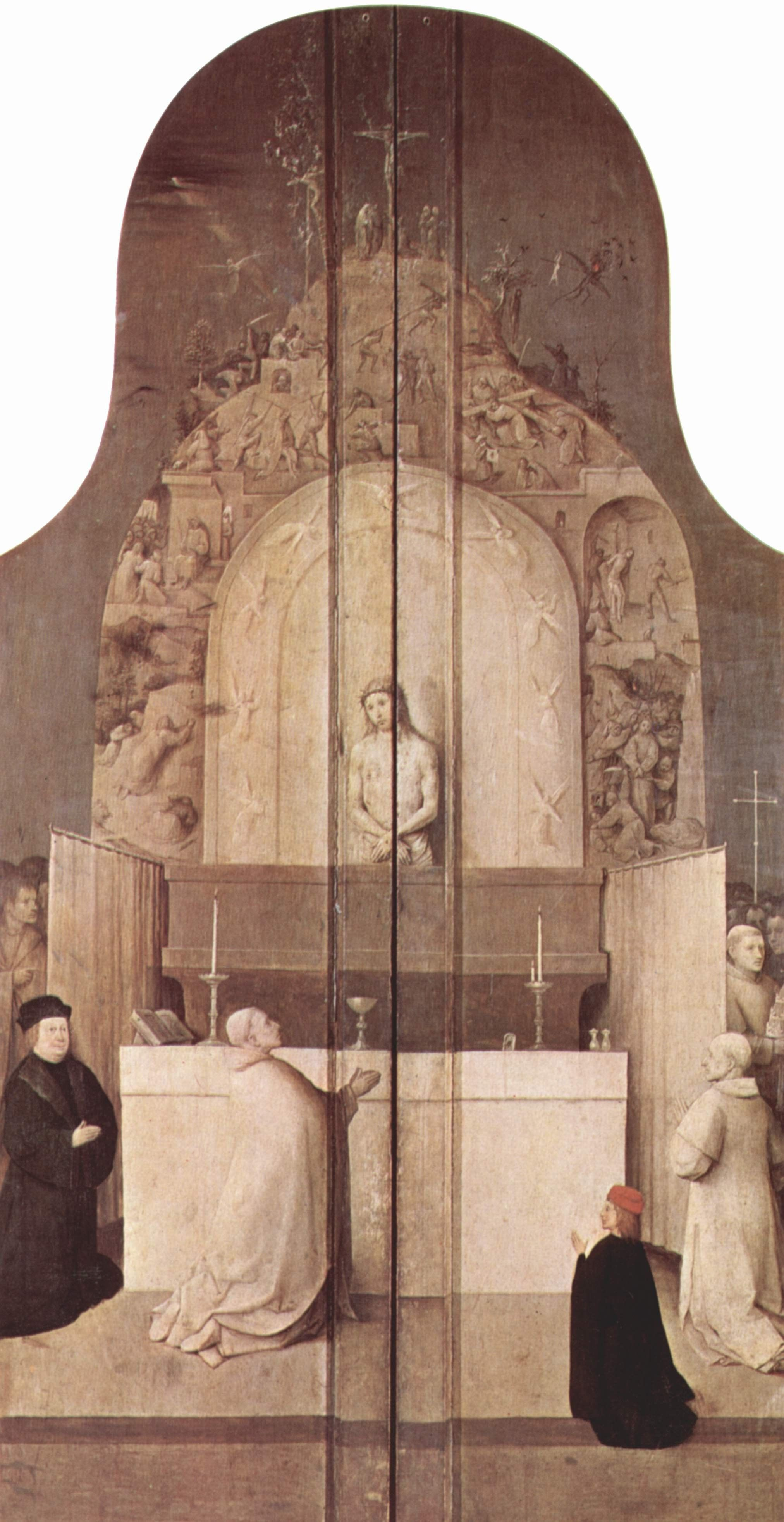 Hieronymus Bosch. The adoration of the Magi. The outer panels of a triptych