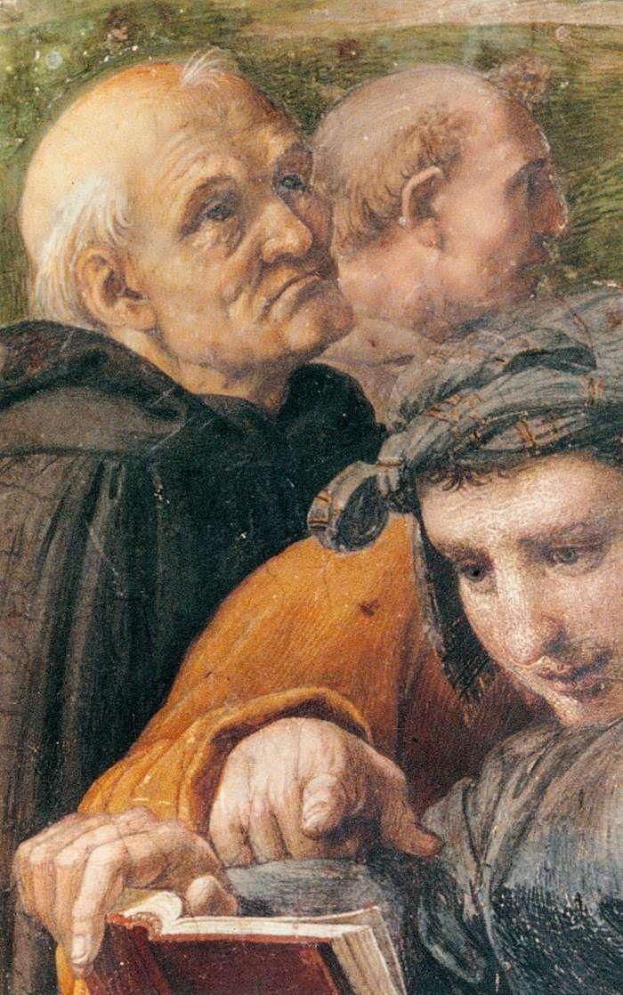 """Raphael Sanzio. The stanza della senyatura. The Fresco """"Dispute"""". Snippet: Beato fra Angelico, the painter-monk"""