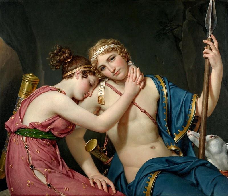 Жак-Луи Давид. Прощание Телемаха и Эвхариды