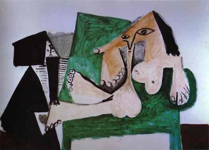 Пабло Пикассо. Обнаженная королева амазонок с рабом