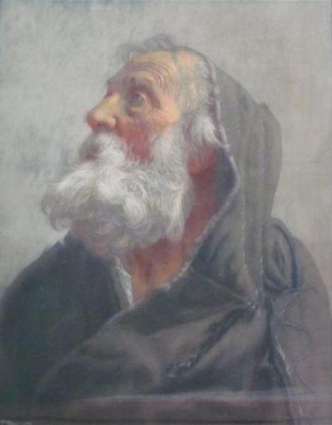 Энтони Фредерик Огастас Сэндис. Портрет старика в капюшоне