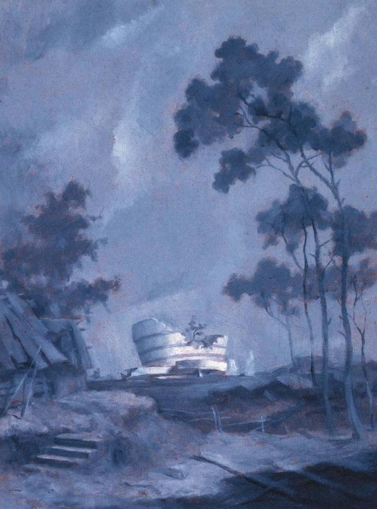 "Vitaly Komar. Guggenheim Museum. Series ""Scenes from the Future"""