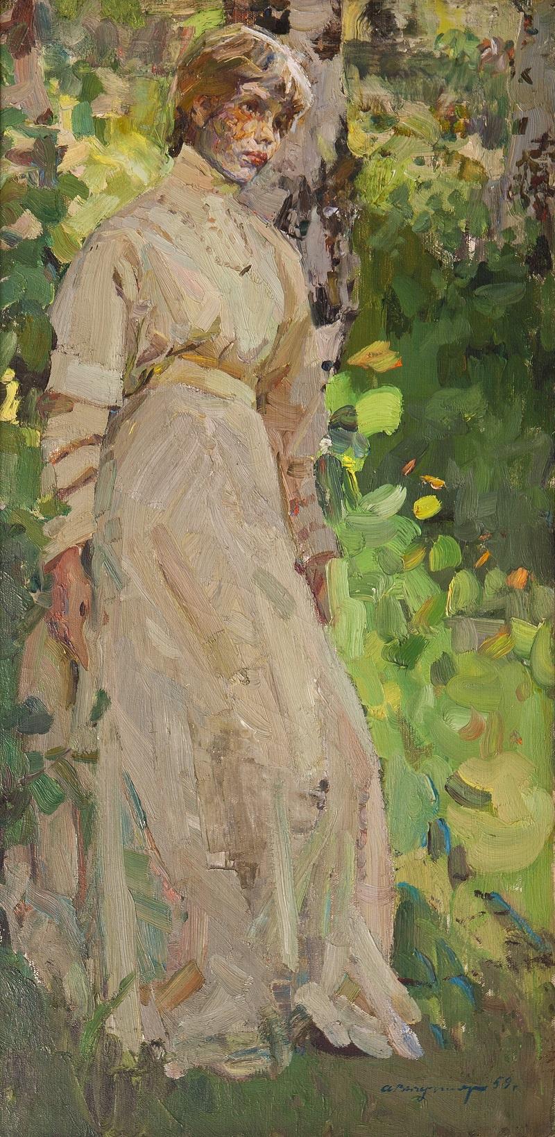 Arkady Ivanovich Vychugzhanin. Portrait of a girl