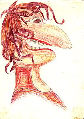 Natalya Garber. Gorgon jellyfish by the mirror