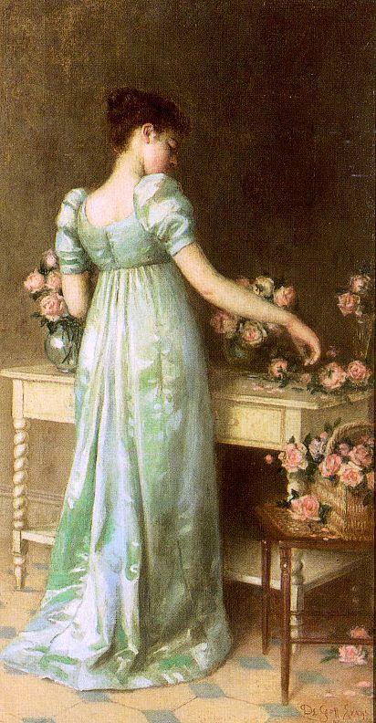 Скотт де Эванс. Обаятельная девушка с розами