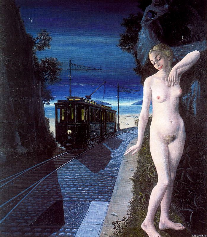 Paul Delvaux. Night vision