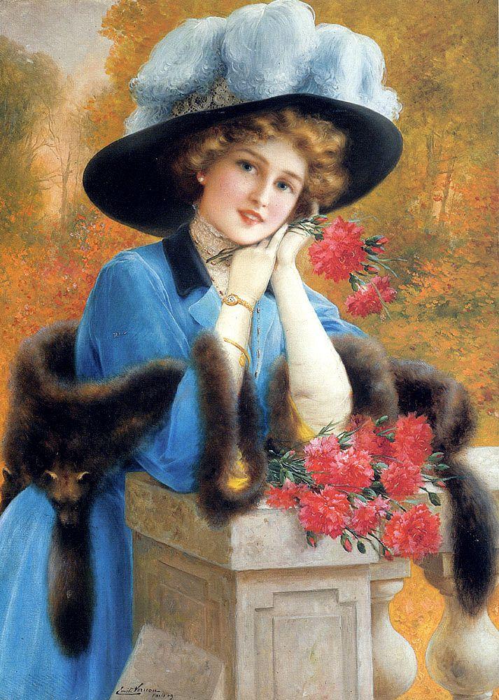 Эмиль Вернон. Гвоздика - знак любви. 1909