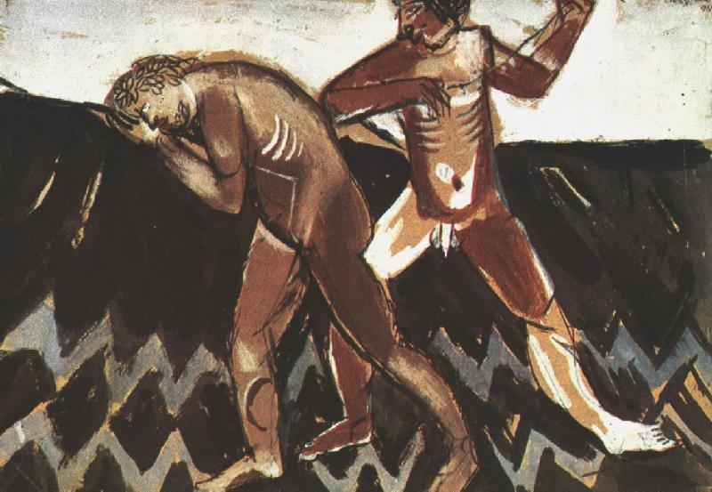Марк Захарович Шагал. Каин и Авель