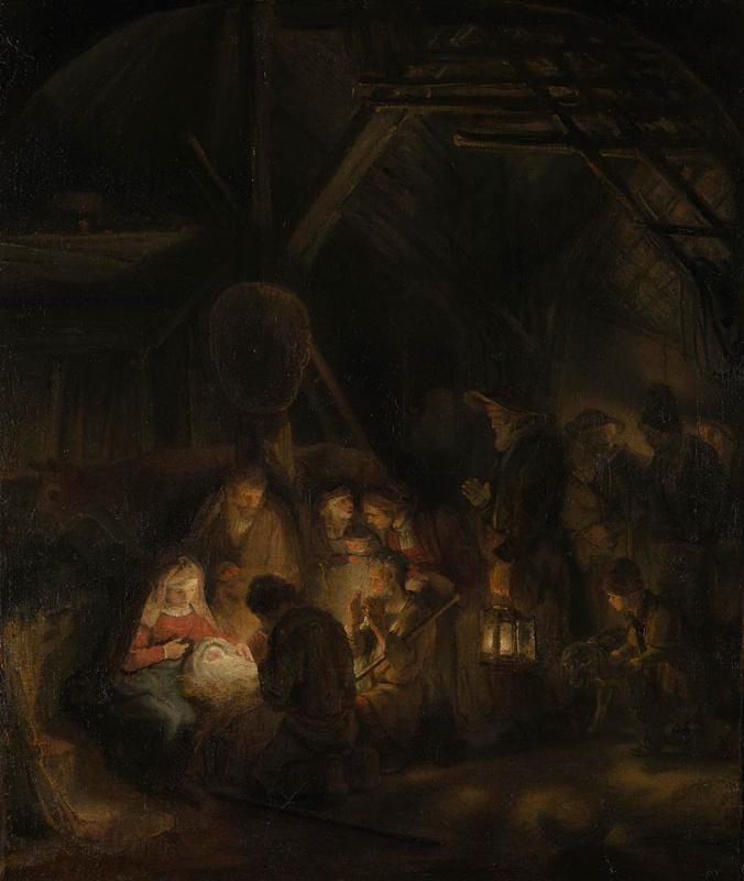 Рембрандт Харменс ван Рейн. Поклонение пастухов