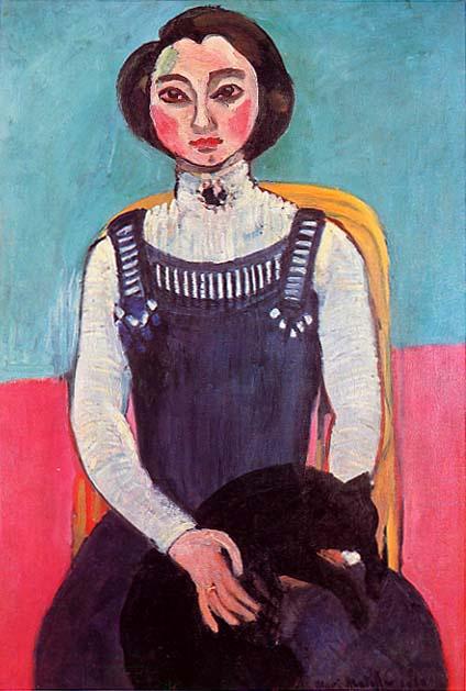 Henri Matisse. Girl with a Black Cat (Portrait de Marguerite)