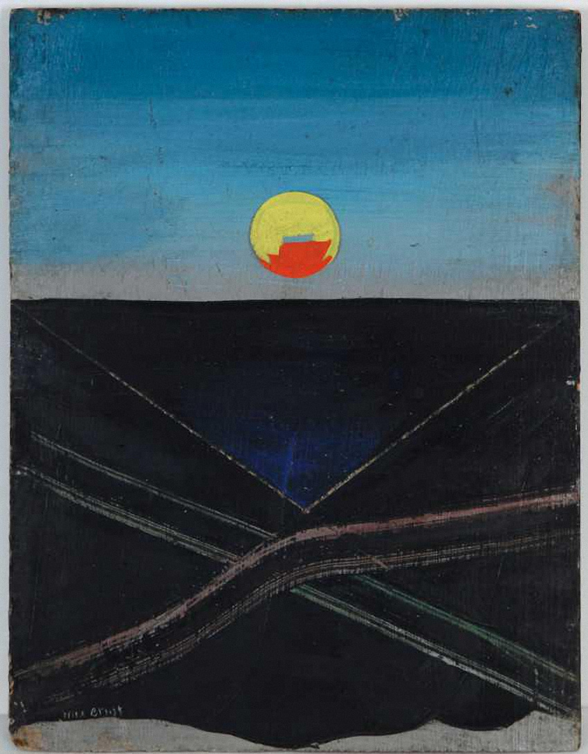 """Max Ernst. The sun. The project of scenery for the play """"Romeo and Juliet"""""""