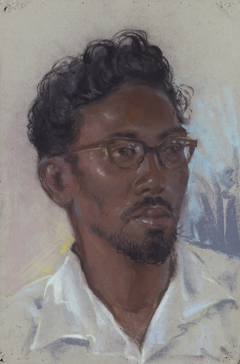 Lim Cheng Hoe. [Not titled] (Portrait of a Malay Man)