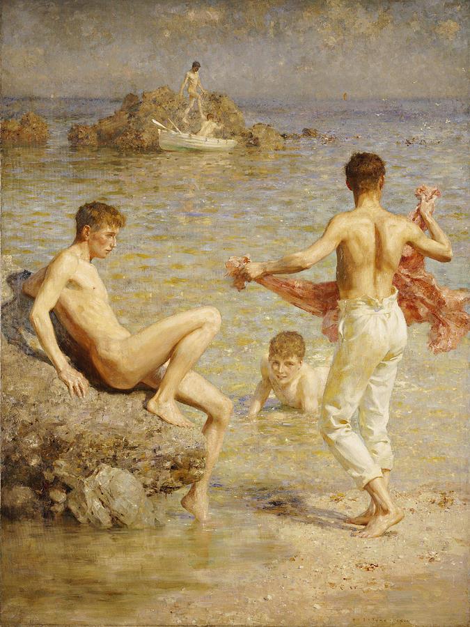 Tuke Henry Scott. 1858-1929. Gleaming waters, 1910-11