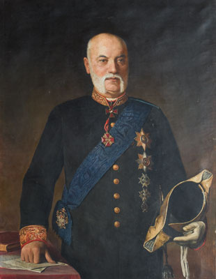 Alexander Nikonorovich Novoskoltsev. Portrait of Athanasius Nikolaevich Somov, Governor of Tver
