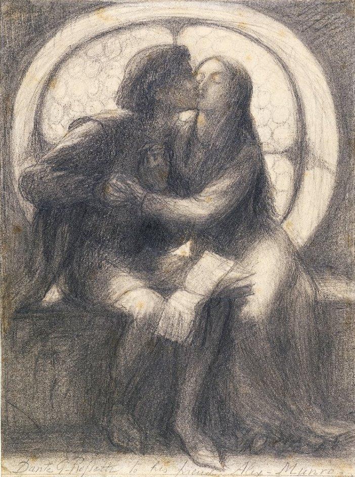 Данте Габриэль Россетти. Паоло и Франческа да Римини. Эскиз
