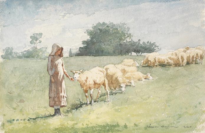 Winslow Homer. Girl and sheep
