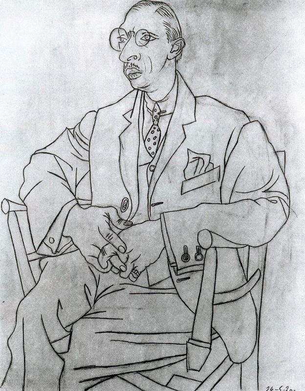 Пабло Пикассо. Стравинский