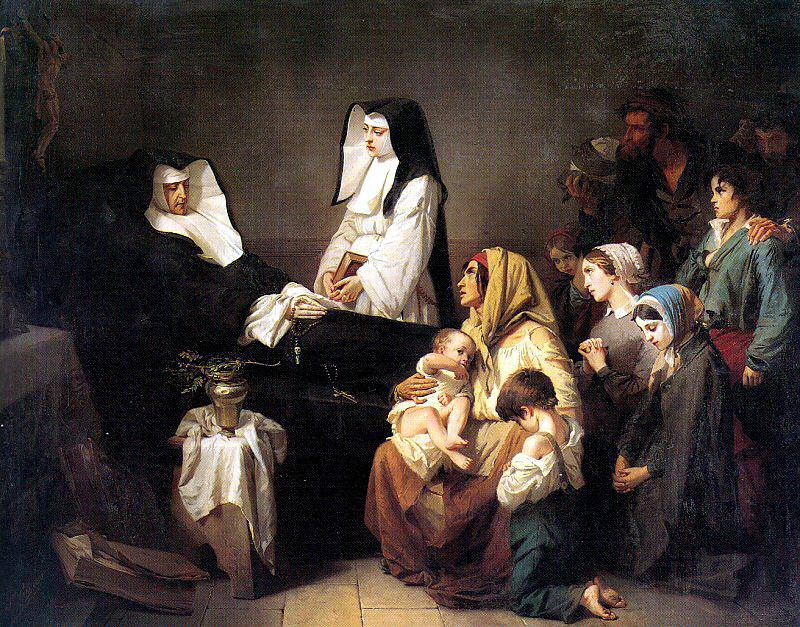 Изидор Пильс. Монахини