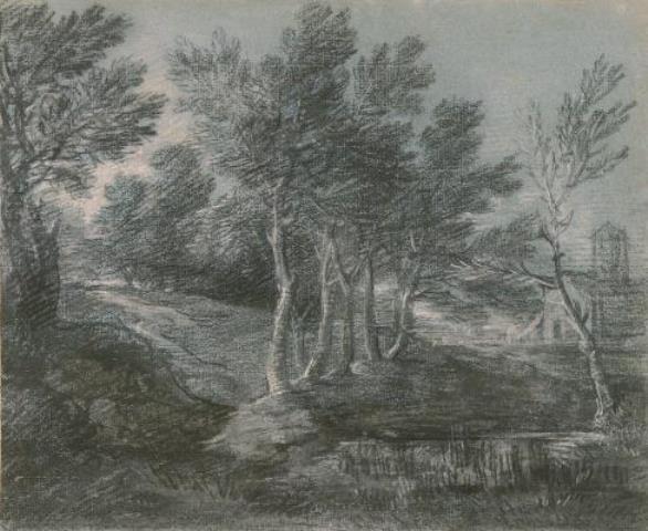 Томас Гейнсборо. Лесной пейзаж с маленьким прудом