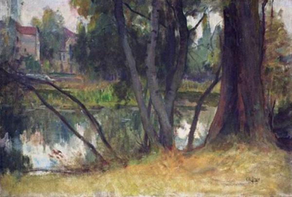Charles-Amable Lenoir. The landscape near the house Wagon
