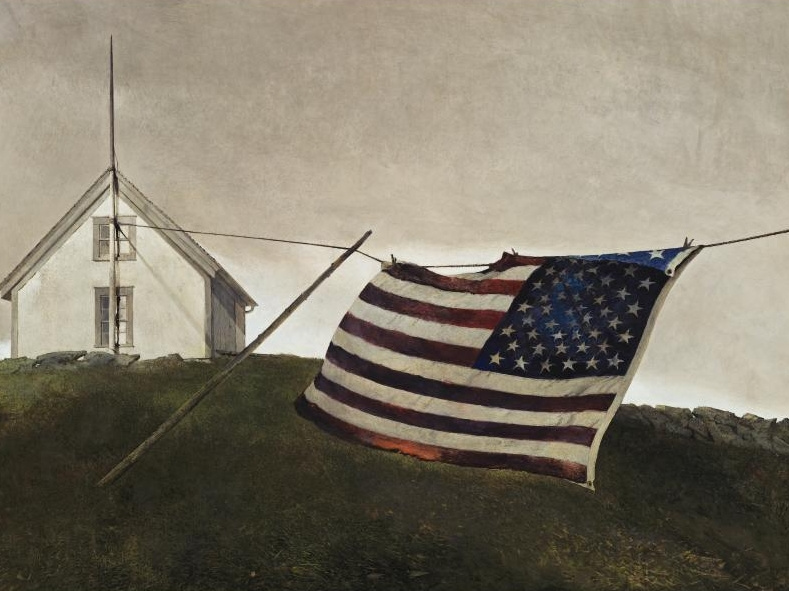Andrew Wyeth. Battle flag