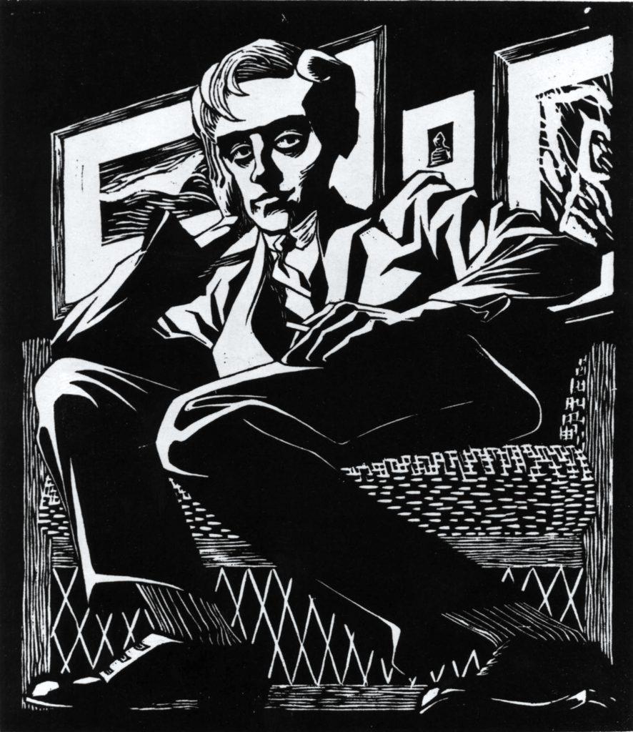 Maurits Cornelis Escher. Self-portrait in the chair