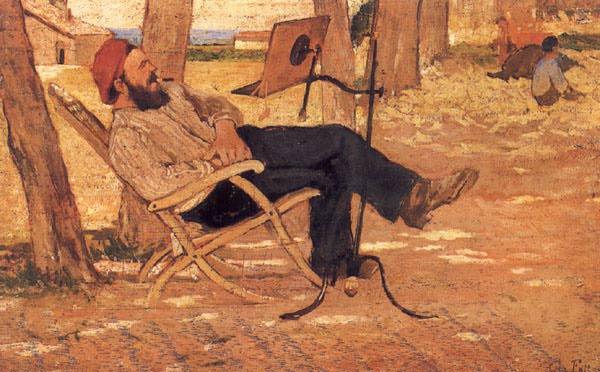 Giovanni Fattori. The midday rest