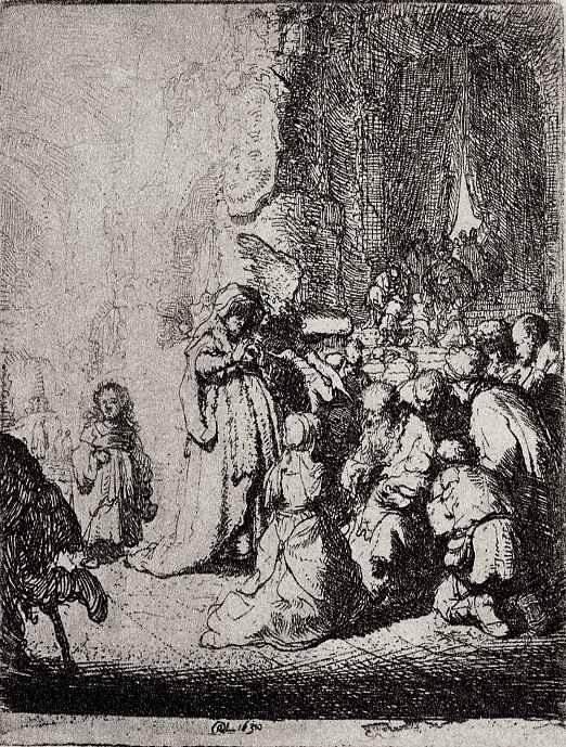 """Рембрандт Харменс ван Рейн. Так называемое """"Малое принесение во храм"""""""