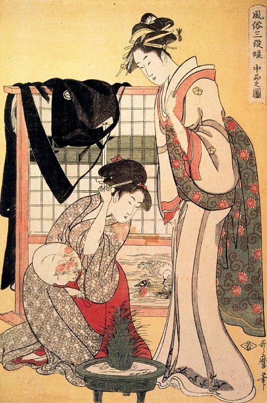 Китагава Утамаро. Высшее общество