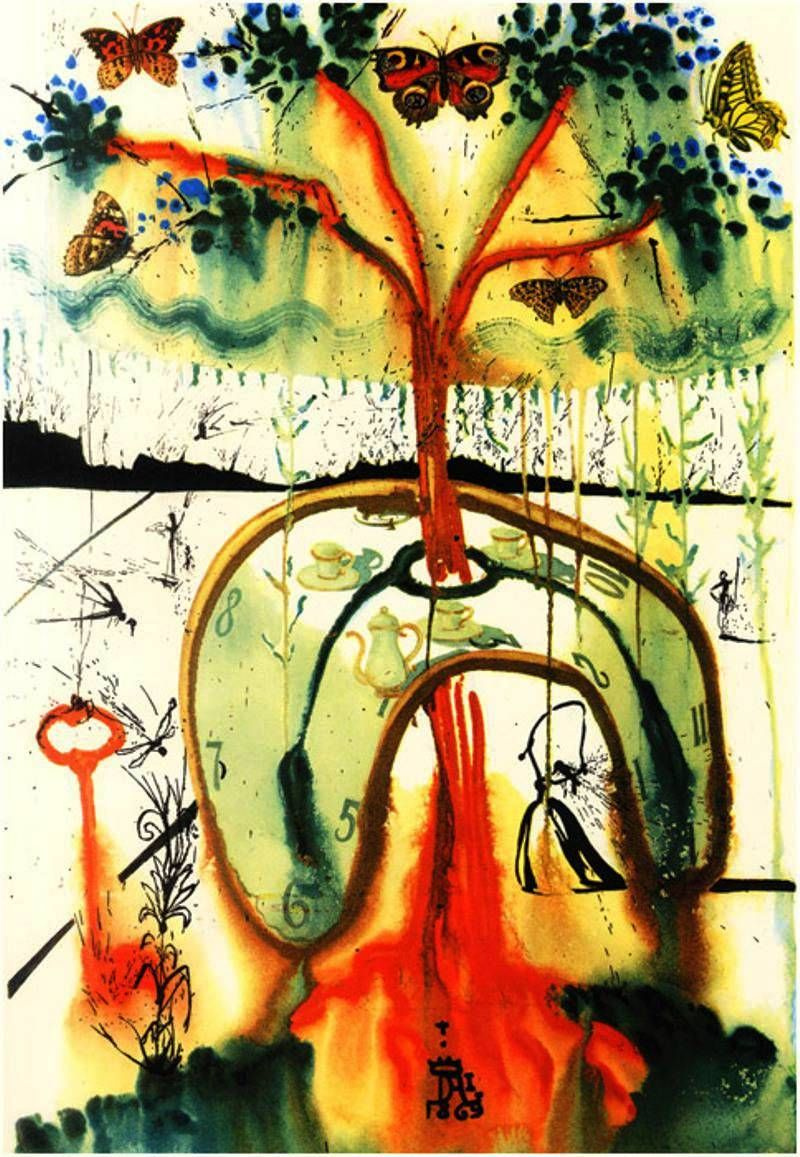 "Сальвадор Дали. Иллюстрация к арт-книге ""Алиса в стране Чудес"""