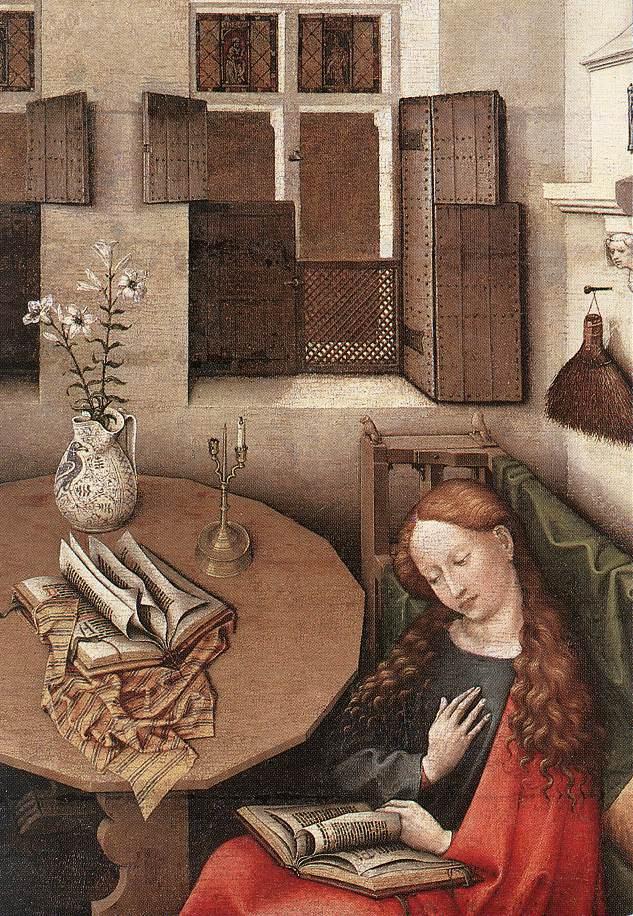 Robert Kampen. The Annunciation. Snippet: Maria