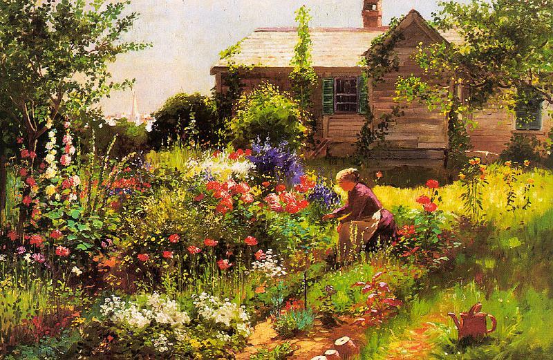 Абботт Фуллер Грейвс. Цветы в саду