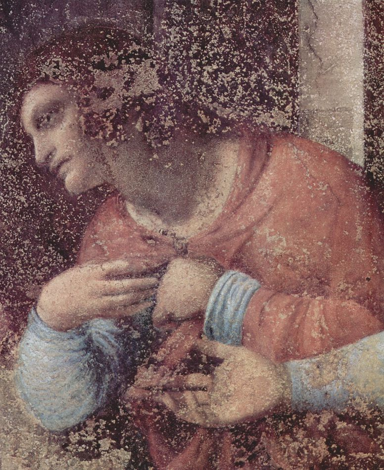 Leonardo da Vinci. The last supper (fragment)
