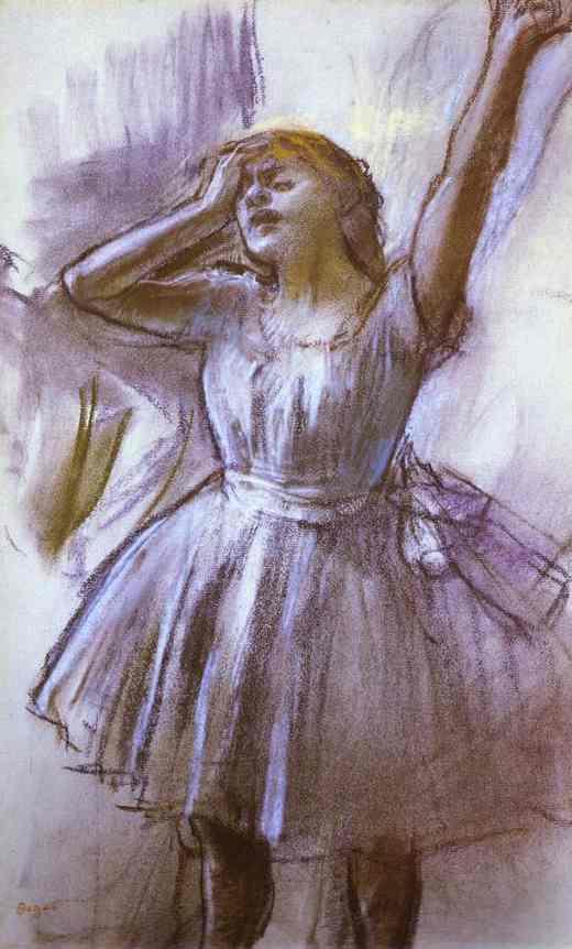 Эдгар Дега. Растяжка танцовщицы
