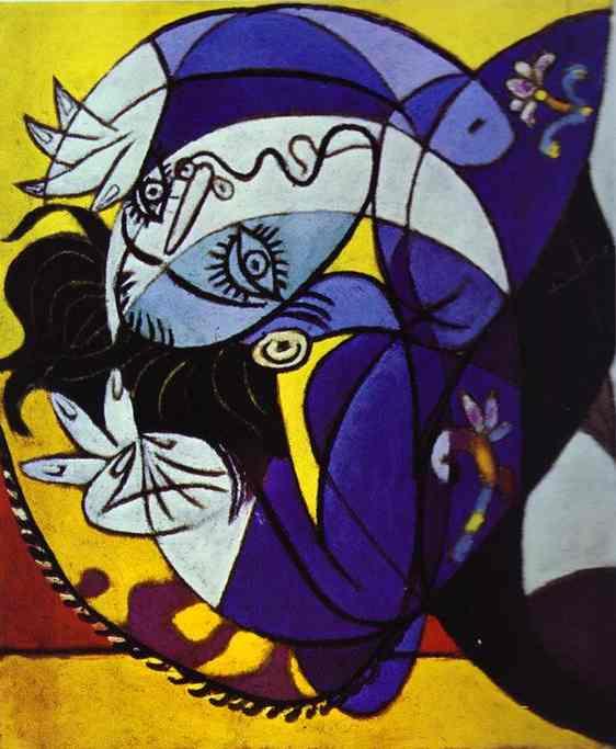 Пабло Пикассо. Девушка на подушке