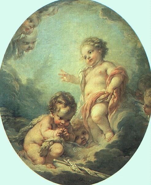 Франсуа Буше. Христос и Иоанн Креститель