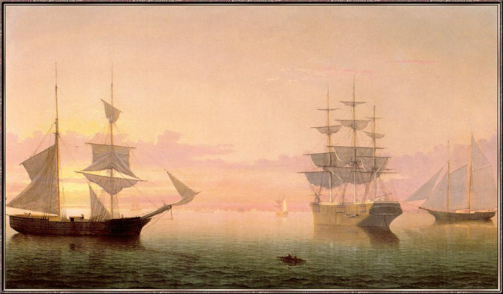 Фитц Хью Лейн. Корабли и восход солнца