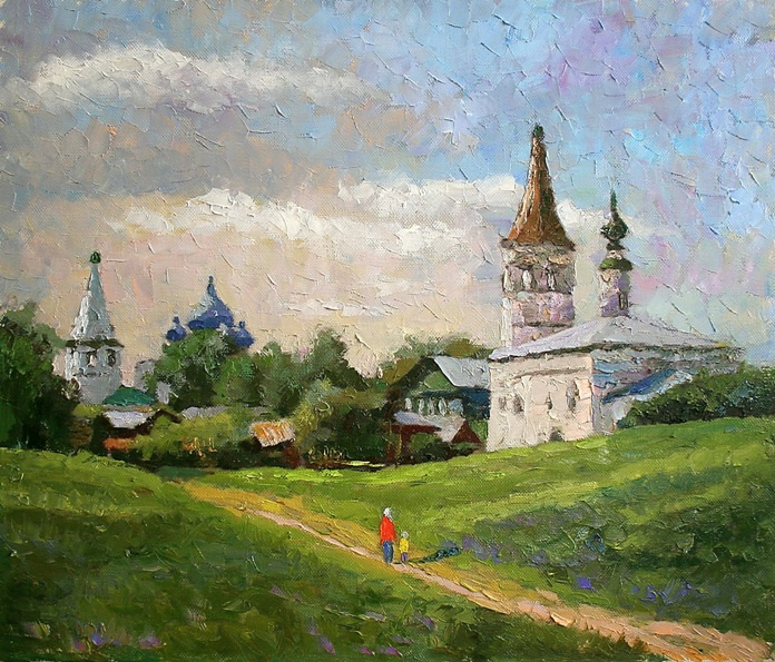 Mikhail Rudnik. Morning in Suzdal