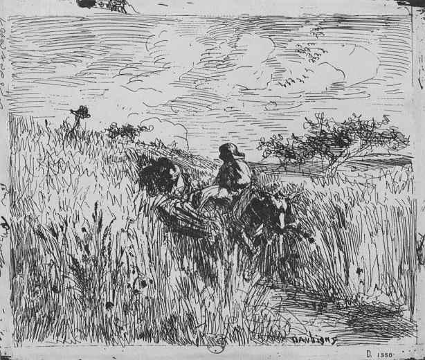 Шарль-Франсуа Добиньи. Тропинка в поле