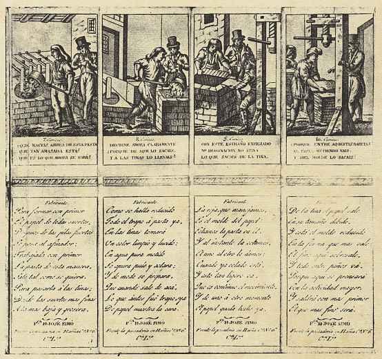 Доминго Эструч. Производство бумаги