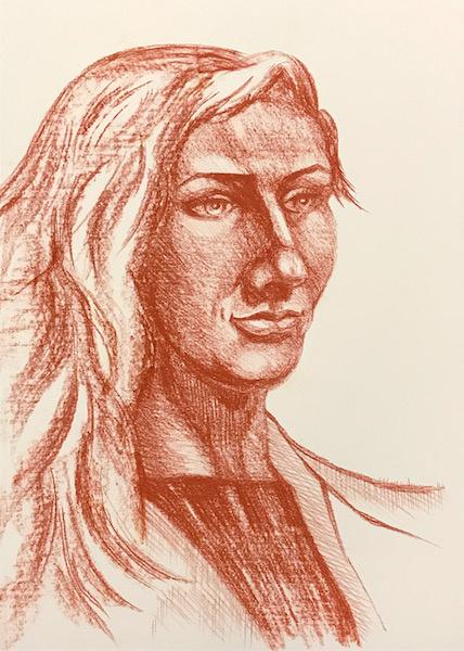 Larissa Lukaneva. Портрет натурщицы