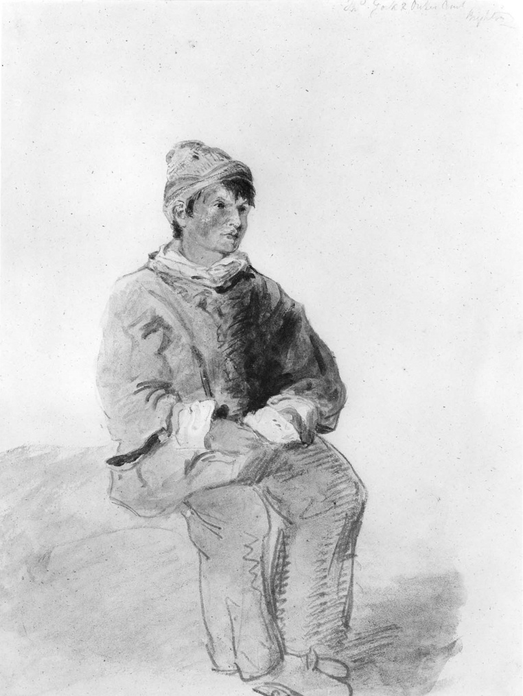 John Constable. Young fisherman. Sketch