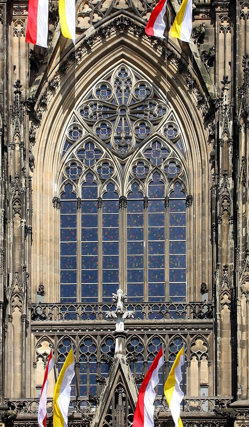 Stained glass window of Cologne Cathedral