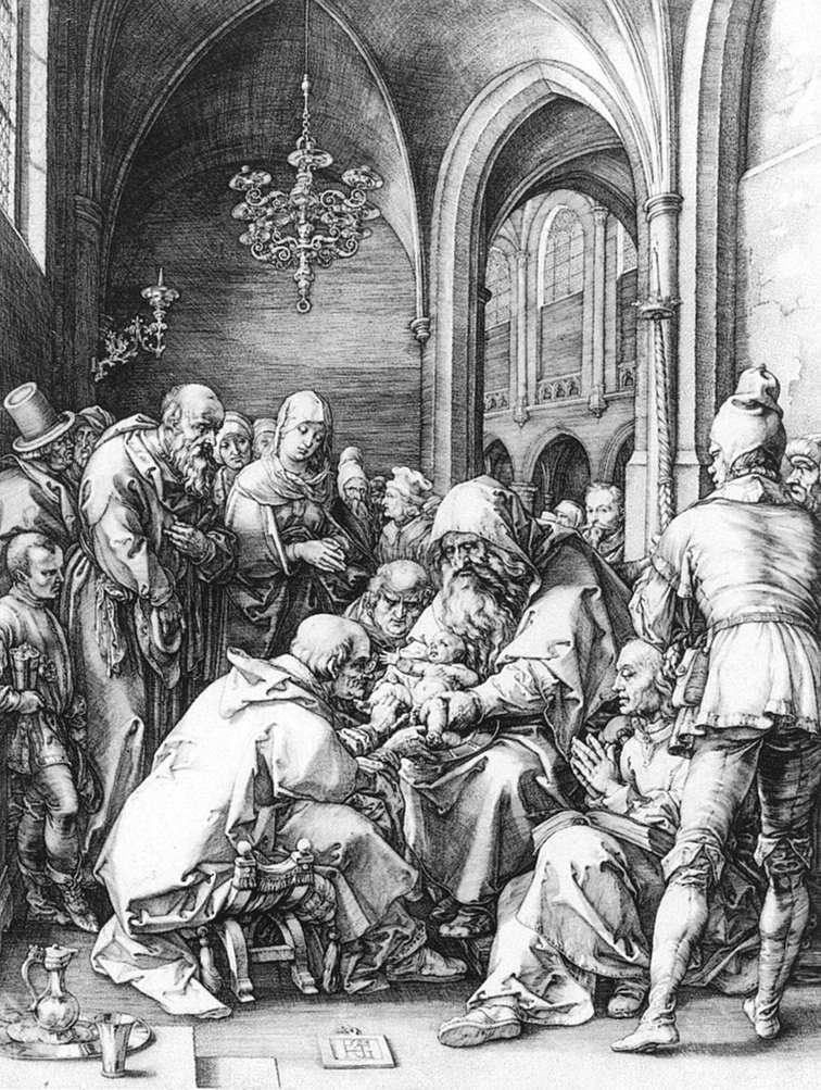 Хендрик Гольциус. Обрезание в церкви Св. Баво в Харлеме