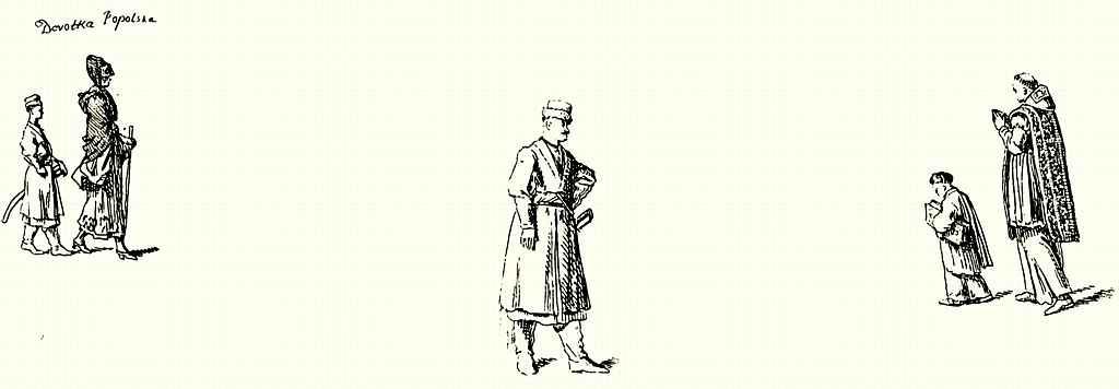 Даниэль  Николай Ходовецкий. Три зарисовки поляков