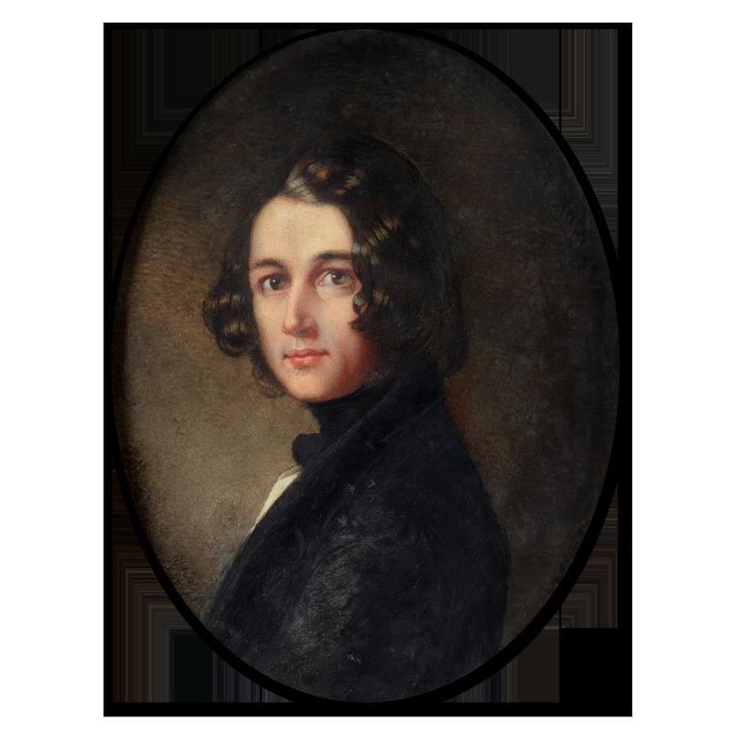 Margaret Gillis. Portrait of Charles John Huffan Dickens